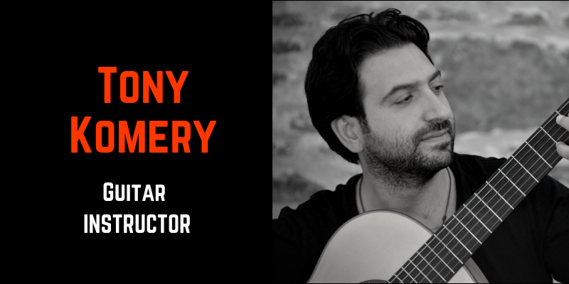 tony komery- guitar instructor