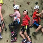 kids rock climbing in kids sports- indoor rock wall