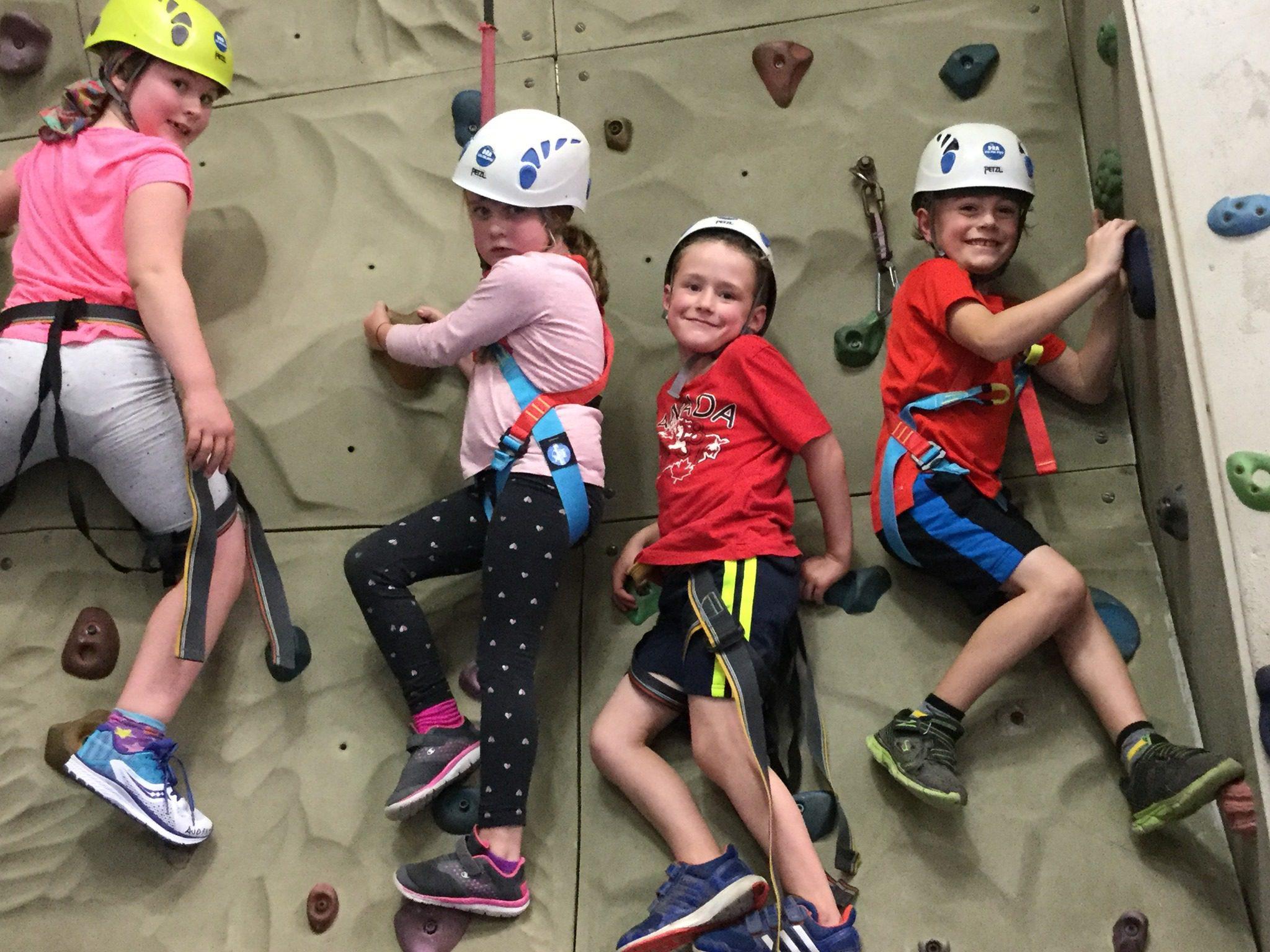 kids rock climbing in kids sports- indoor rock wall