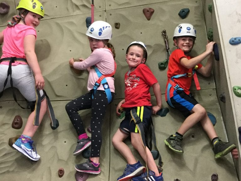kids rock climbing- indoor rock wall for kids