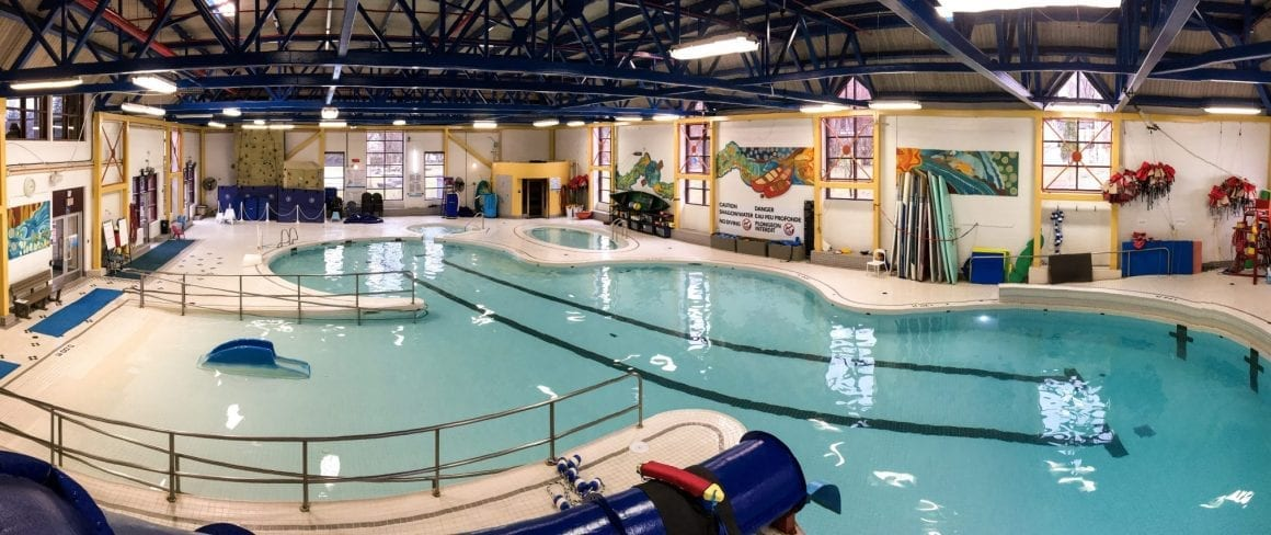 indoor pool panorama shot