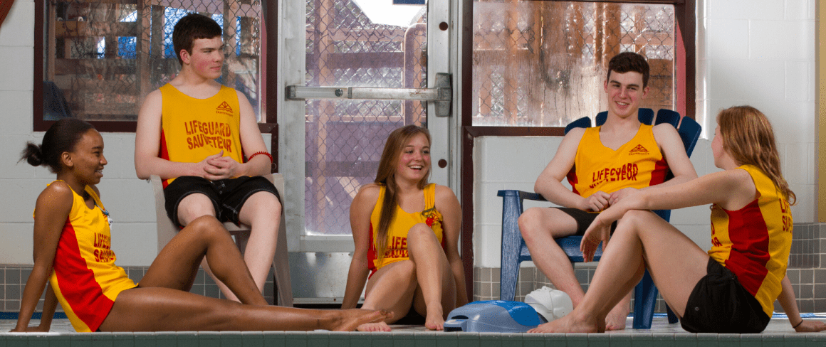 lifeguards hanging by pool