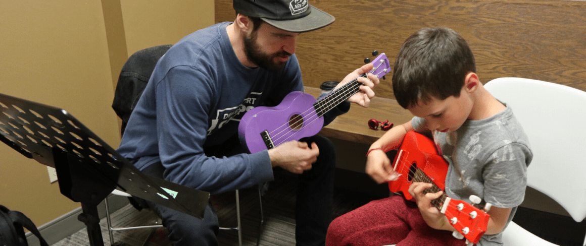 private music lessons-playing ukulele