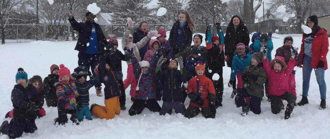 march break camp fun in the snow