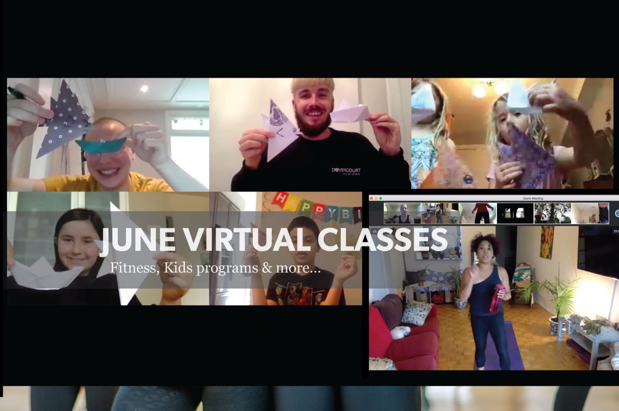 June virtual classes: fitness, kids programs & more