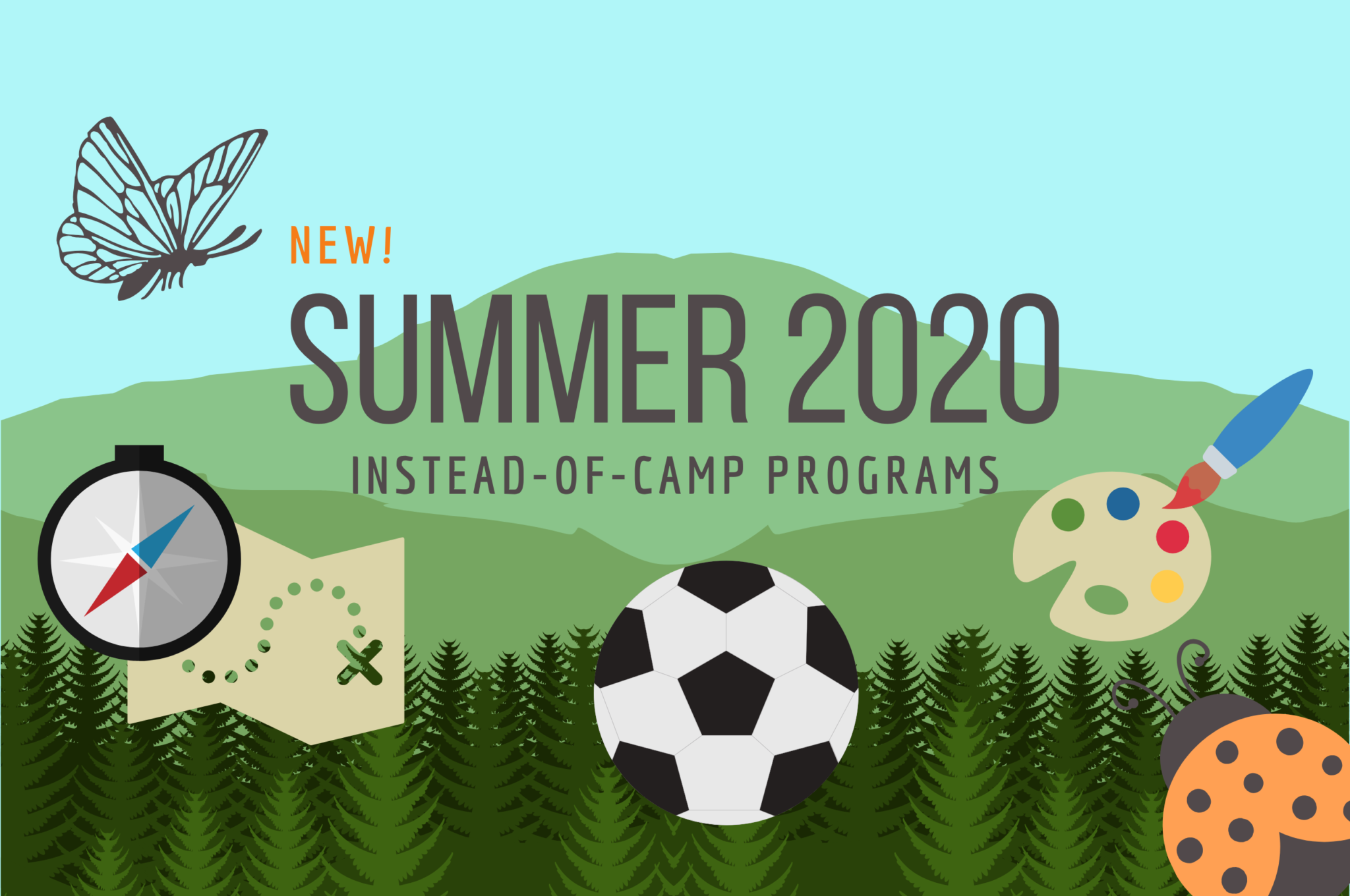 new! Summer 2020 instead of camps programs