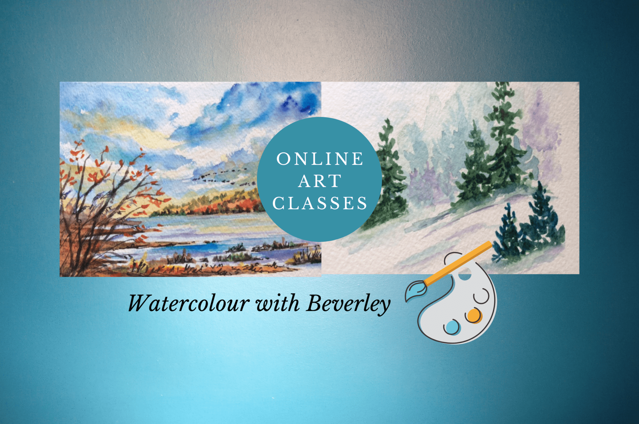 online art classes - watercolour with Beverley